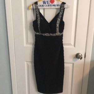 Black and silver formal dress size 4